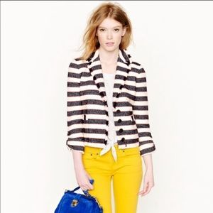 J. Crew Collection Tweed Legion Stripe Blazer